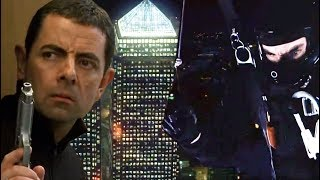 Sky Dive Mission | Johnny English | Funny Clips | Mr Bean Official | Mr Bean