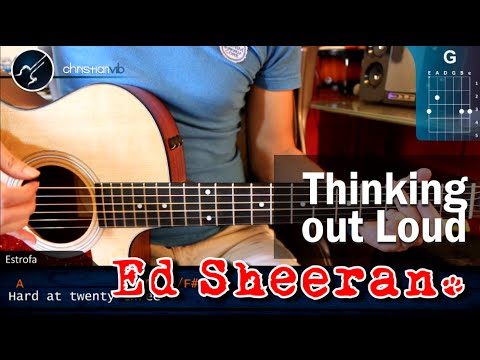 "Cómo tocar ""Thinking out Loud"" de Ed Sheeran en guitarra (HD Tutorial COMPLETO - Christianvib"