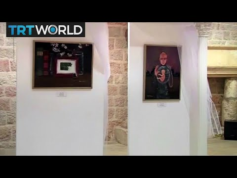 Young Palestinian artists showcase their work at an exhibition in Jerusalem