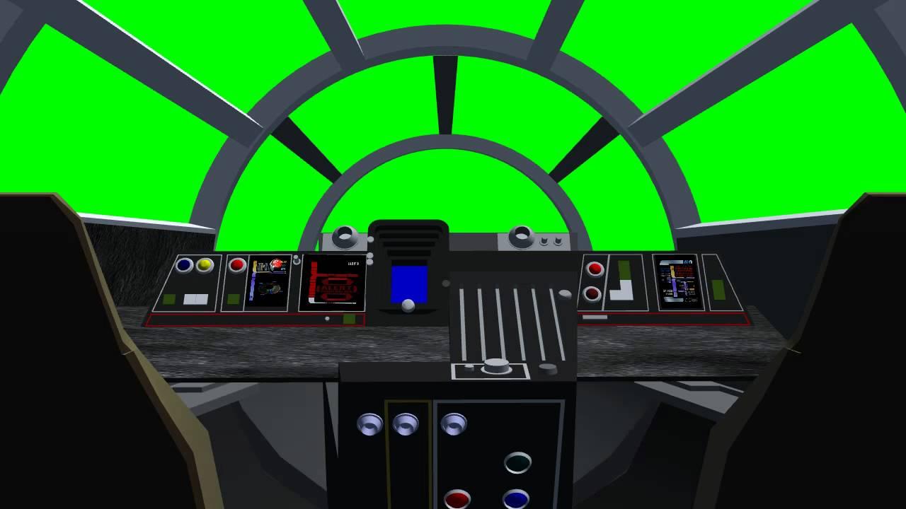 Millennium Falcon Cockpit 01 Green Screen Effects