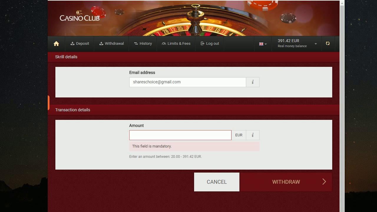Club Gold Casino Withdrawal