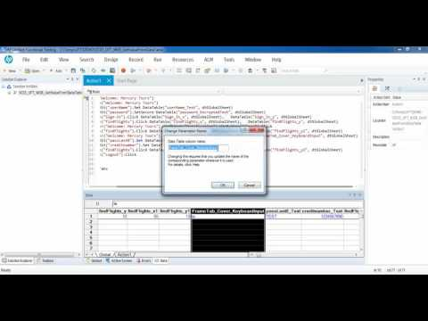 HP Unified Functional Testing (UFT): Get Value From DataTable Global Sheet