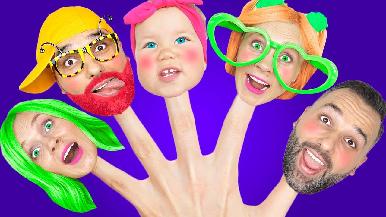 Пять красочных пальчиков   Василиса играет с пальчиками - Детские песенки от Vasya Songs