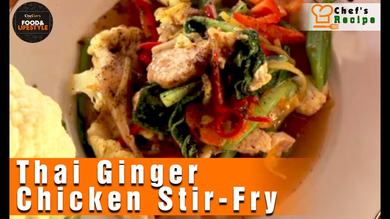 Recipe thai ginger chicken stir fry by chef tan youtube recipe thai ginger chicken stir fry by chef tan forumfinder Image collections