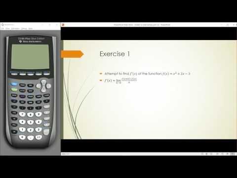 Video 12 Derivatives Part 2