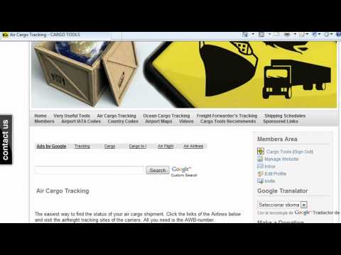 Cargotracking Cargo Tools - Air, Ocean, Freight Forwarder's Cargo Freight Tracking and more!