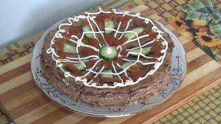 печеночный торт - просто и очень вкусно.