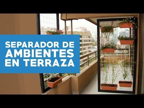 cmo hacer un separador de ambientes para la terraza youtube