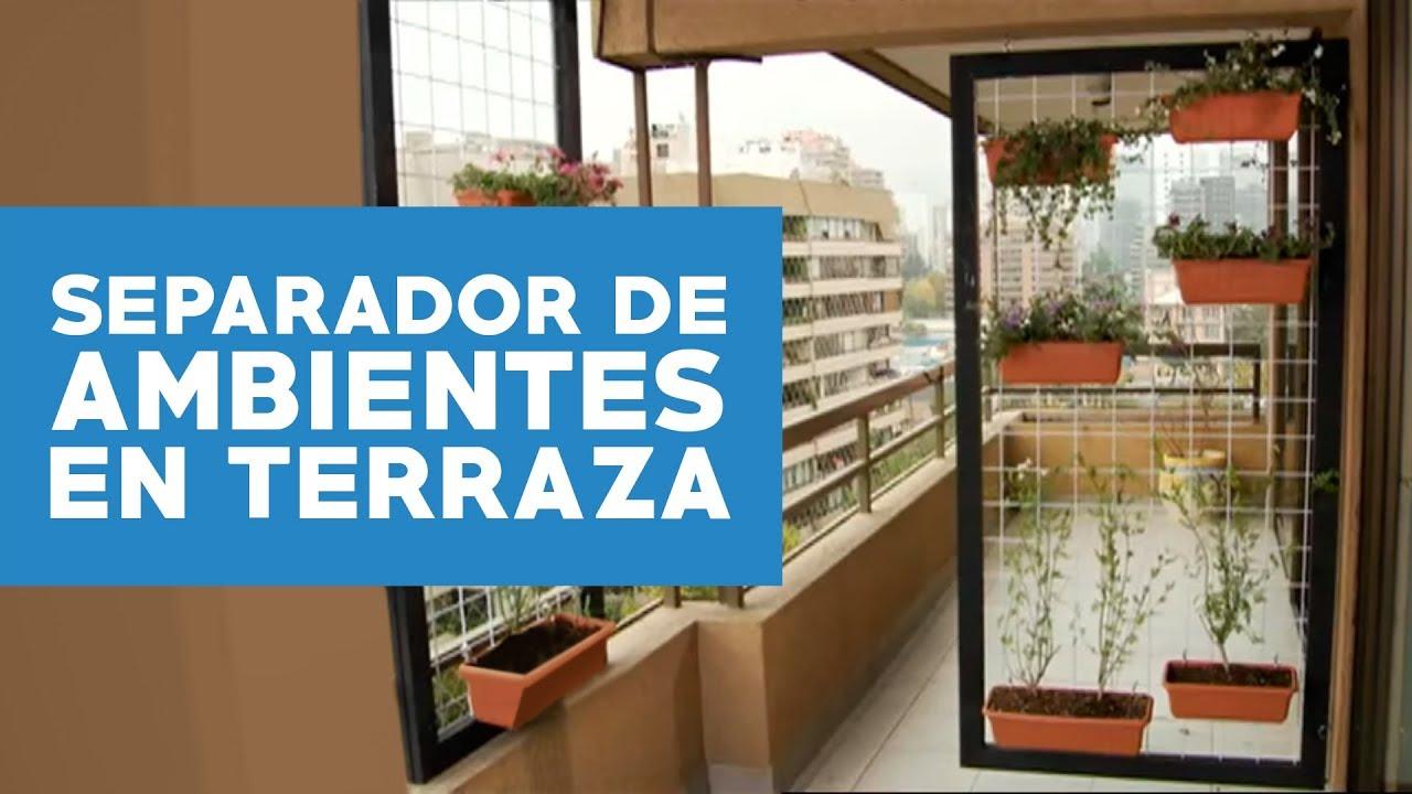 Cmo hacer un separador de ambientes para la terraza