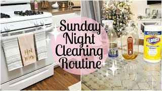 SUNDAY NIGHT CLEANING ROUTINE 2018 | EXTREME CLEANING MOTIVATION | Tara Henderson