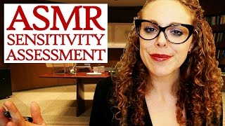 ASMR Sensitivity Test - Psychology Doctor Visit Role Play – Mouth Sounds, Ear Massage, Whispering