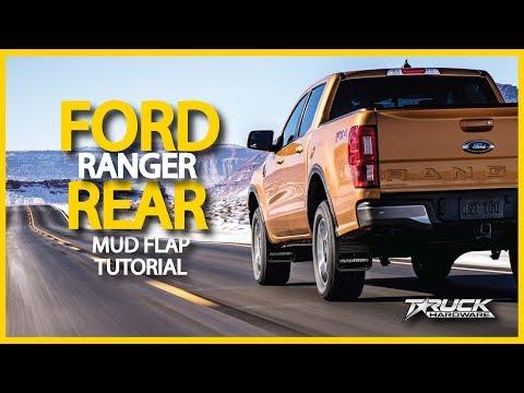 Gatorback 2019 Ford Ranger Rear Mud Flaps Install