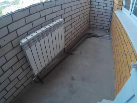 Установка радиаторов отопления на балконе и перенос радиаторов на центр окна