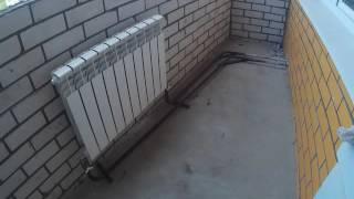 Установка радиаторов отопления на балконе и перенос радиаторов на центр окна(, 2016-05-27T17:19:07.000Z)