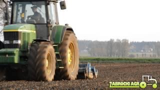 John Deere 7710 głęboszowanie Maschio ATTILA siew trawy Rabe + APV