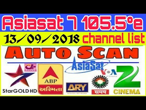 Asiasat 7 105 5°e channel list last update auto scan 13/09