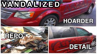 Super Cleaning The Nastiest VANDALIZED REPO Ever | Insane 24 hour Car Detailing Transformation!