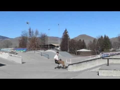 Office Chair At The Skateboard Park Youtube