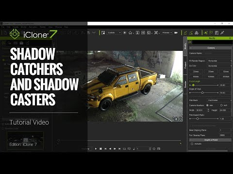 iClone 7 Tutorial - Shadow Catchers and Shadow Casters