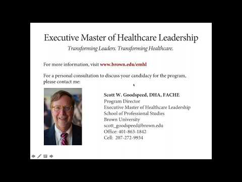 Executive Master of Healthcare Leadership Online Info Session | December 13, 2017