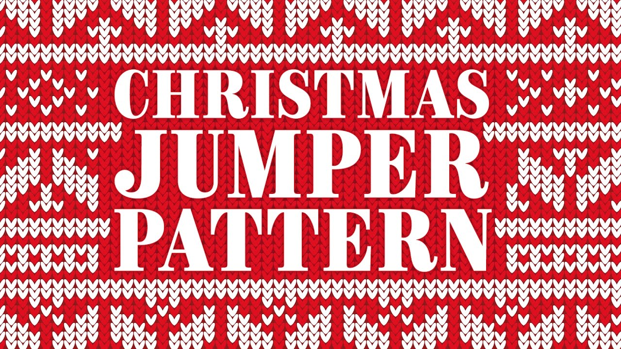 472e91946 Christmas Jumper Pattern Adobe Illustrator Tutorial - YouTube