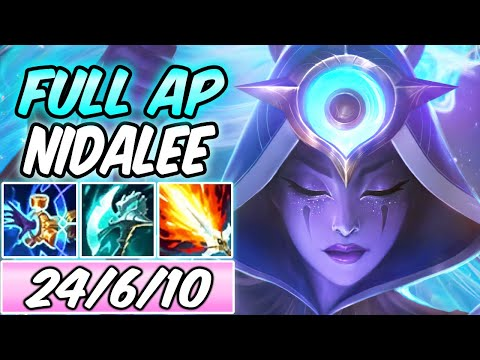 *INSANE DAMAGE* NIGHT HARVESTER COSMIC HUNTRESS NIDALEE JUNGLE GAMEPLAY | Build & Runes | NEW SKIN