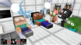 Monster School : SUMMON HEROBRINE AND DEFEAT EVIL GHOSTS - Funny Minecraft Animation