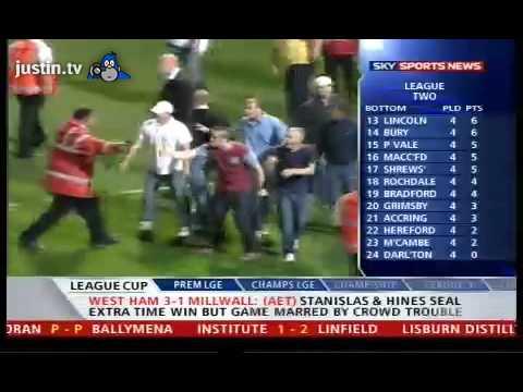 Millwall vs West Ham incidents