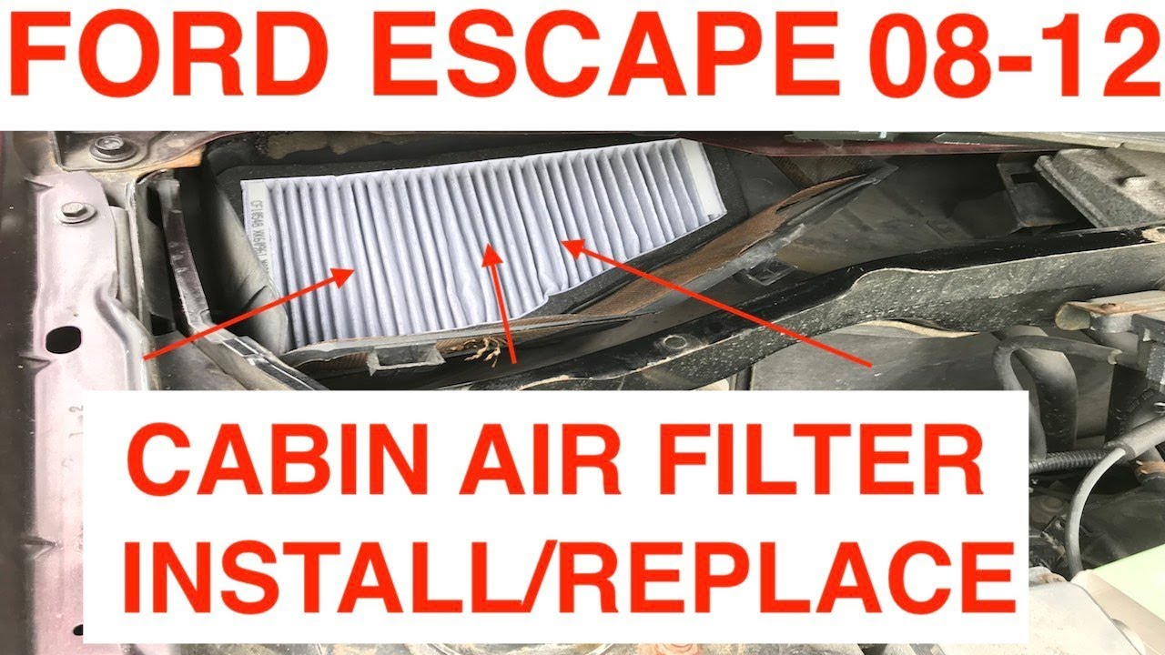 Install Replace Cabin Air Filter 2008 2012 Ford Escape Youtube