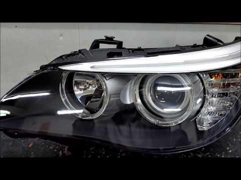 BMW E60+ Замена стекла фары