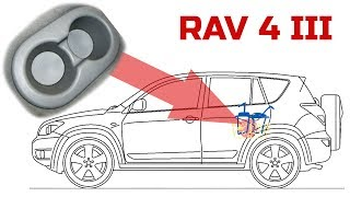 Как снять подстаканник на Тойоте. Тойота RAV 4 III (2007)