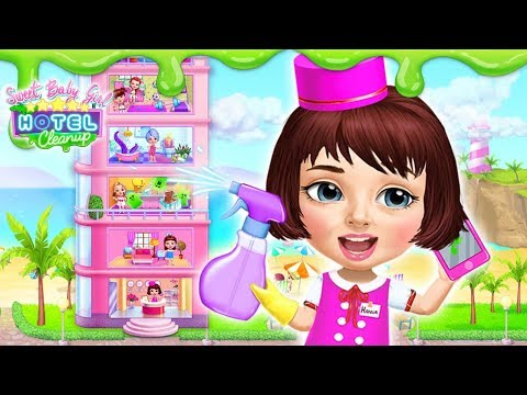Messy Hotel Rooms Cleaning Dash! Sweet Baby Girl Hotel Cleanup | TutoTOONS Cartoons & Kids Games
