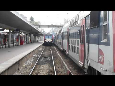 My last train driving, with final arrival at Versailles Chateau station