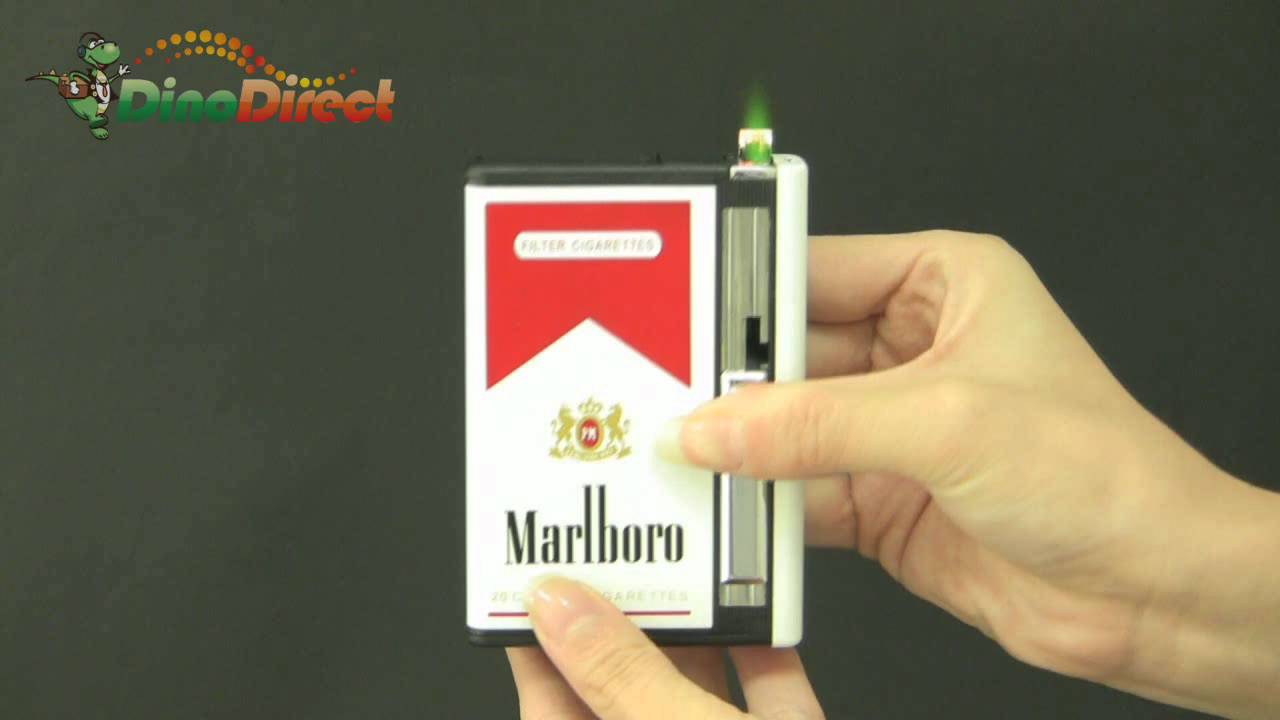 Metal Automatic Cigarette Case Holder with Lighter - dinodirect - YouTube & Metal Automatic Cigarette Case Holder with Lighter - dinodirect ... Aboutintivar.Com