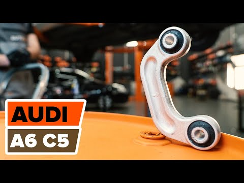 How to change a Front Anti Roll Bar Link AUDI A6 C5 TUTORIAL  AUTODOC
