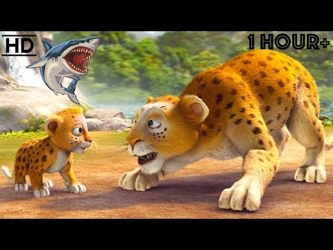 Children CARTOONS 2017 HD - Scary Animal Bandits - Snake, Tiger, Shark, Lion, Dinosaur Kids Videos