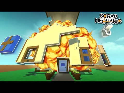 EXPLODING PISTON HOUSE! - Scrap Mechanic Creations! - Episode 123