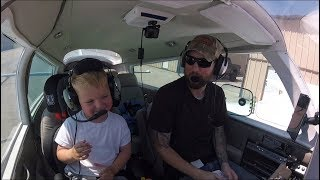 My 4 Year Old Helps Fly to the Avionics Shop