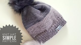 SIMPLE Knit Hat / Tutorial For Beginners