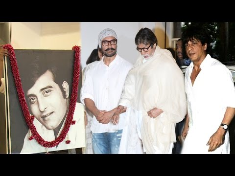 Vinod Khanna's Prayer Meet Full Video HD - Shahrukh,Aamir,Amitabh,Aishwarya,Hrithik