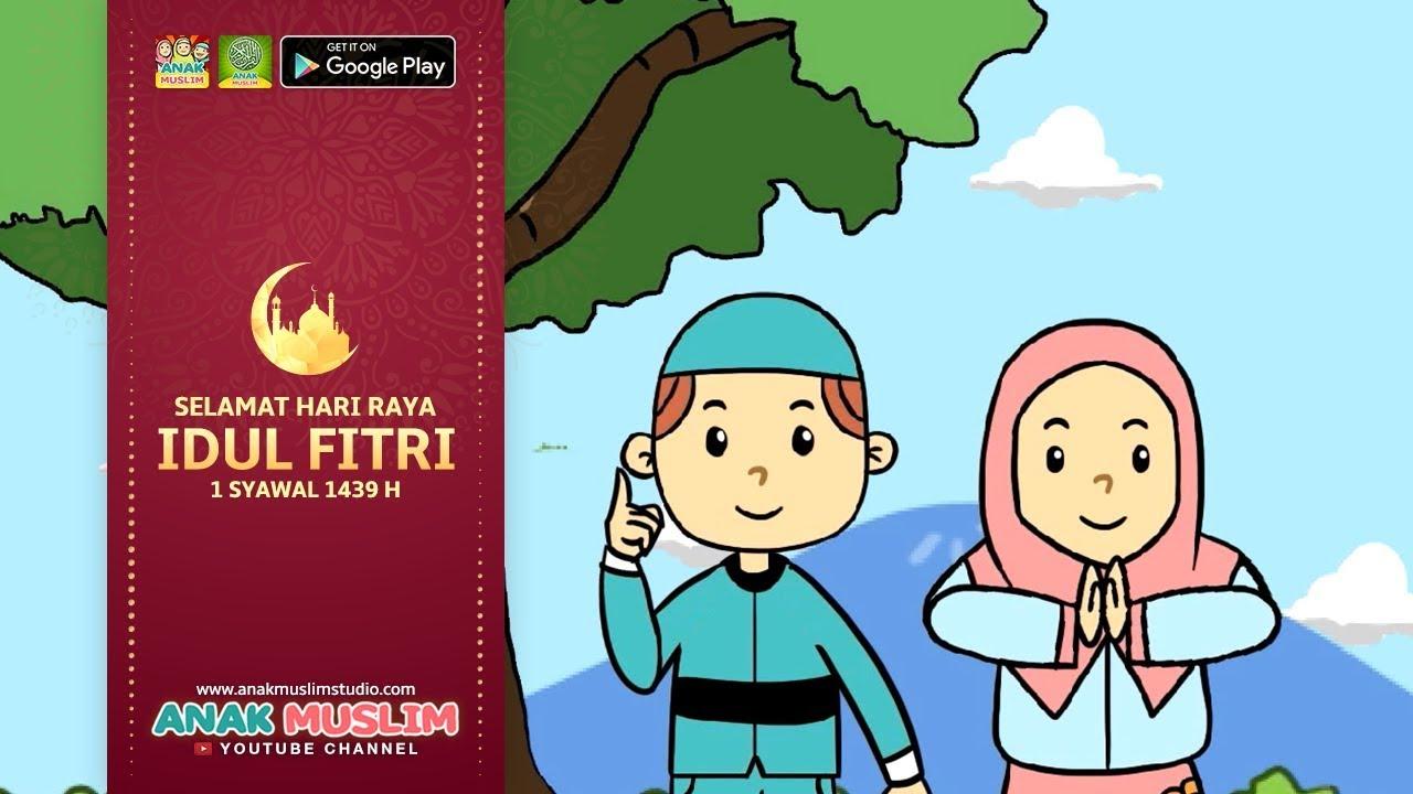Gambar Kartun Muslimah Hari Raya Design Kartun