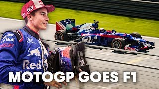 We placed Marc Marquez in an F1 car. | Marc Marquez's Two to Four Wheels