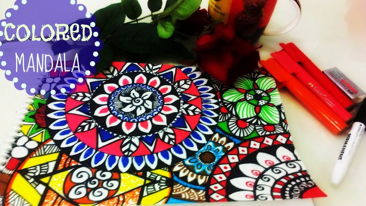 - ♥ Colourful Mandalas Painting ♥ - YouTube