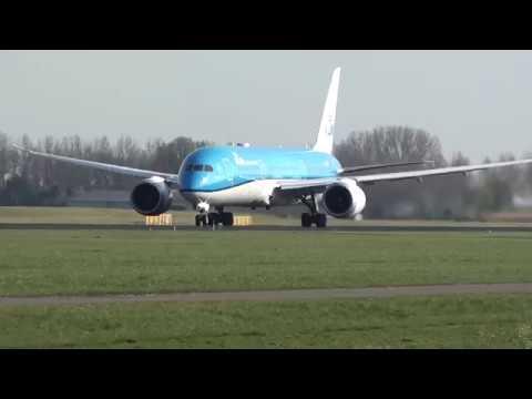 Klm Boeing 787-900 Dreamliner PH-BHF Take Off Amsterdam Schiphol 18R