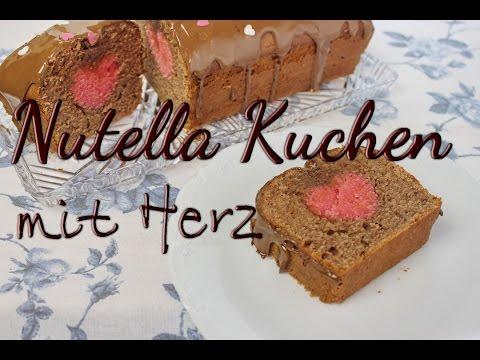 Nutella Kuchen Rezept - Kuchen Mit Herz Im Inneren Backen - Ideen Zum Valentinstag