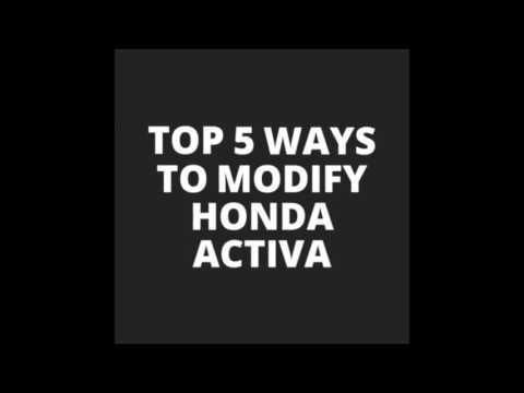 Honda activa top 5 modifications under rs 500