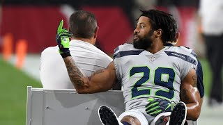 Earl Thomas gets injured and FLIPS OFF Seahawks Bench!!