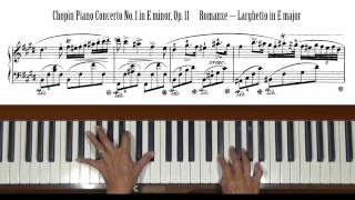 Chopin Piano Concerto No. 1 Larghetto mvt Tutorial