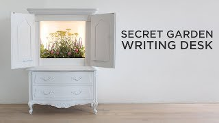 Secret Garden Writing Desk with LED grow lights