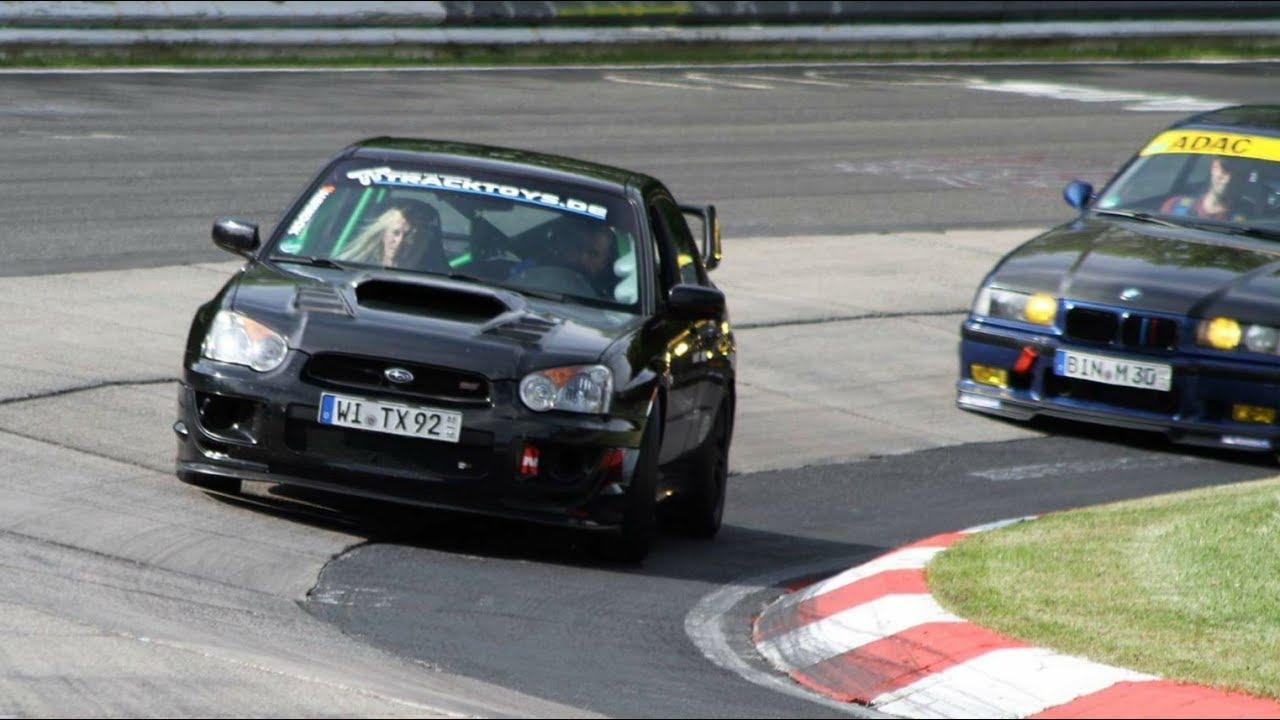 Bmw e36 m3 3 0 vs very fast subaru impreza wrx sti n rburgring nordschleife 21 05 2017